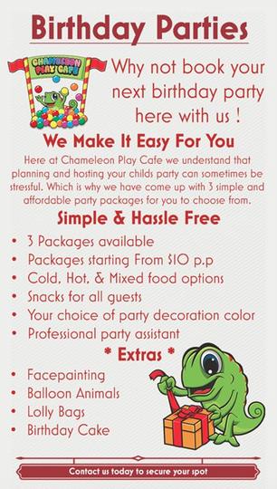 Cafe Chameleon Opening Times